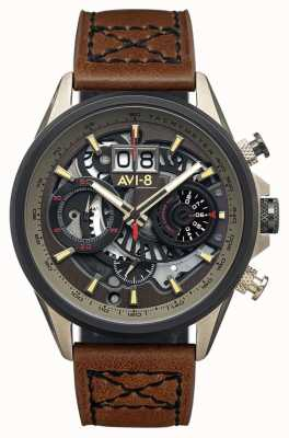 AVI-8 Hawker Harrier ii | Chronograph | braunes Lederband AV-4065-06