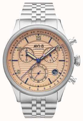 AVI-8 Flyboy lafayette | Chronograph | Edelstahlarmband AV-4076-44