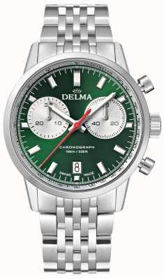 Delma Kontinentalchronograph | Edelstahlarmband | grünes Zifferblatt 41701.704.6.141