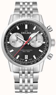 Delma Kontinentalchronograph | Stahlarmband | schwarzes Zifferblatt 41701.704.6.031