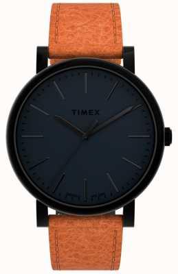 Timex Originale 42mm | schwarzes Zifferblatt | hellbraunes Lederband TW2U05800