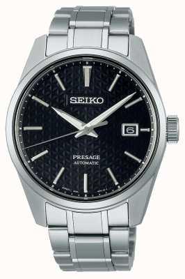 Seiko Herren Presage Sharp Edge Series schwarzes Zifferblatt SPB203J1