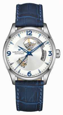 Hamilton Jazzmaster | automatisch | offenes Herz | blaues Lederband H32705651