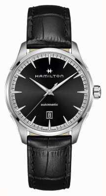 Hamilton Jazzmaster | auto | schwarzes Lederband | schwarzes Zifferblatt H32475730