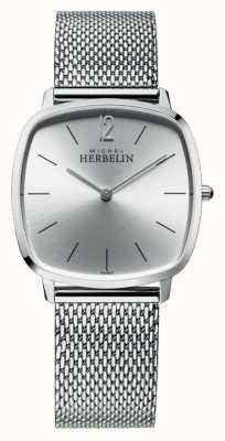 Michel Herbelin Stadt | silbernes Zifferblatt | Edelstahl-Mesh-Armband 16905/11B