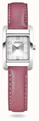 Michel Herbelin V avenue | rosa Lederband | silbernes Zifferblatt 17437/21ROZ