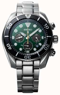 "Seiko Prospex ""Inselgrün"" Solar Chronograph ""Sumo"" Uhr in limitierter Auflage SSC807J1"