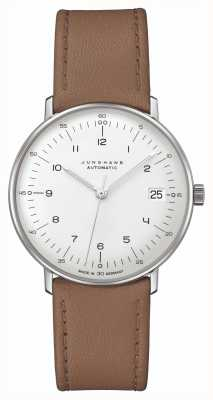 Junghans Max Rechnung | kleine | automatisch | braunes Lederband 27/4107.02