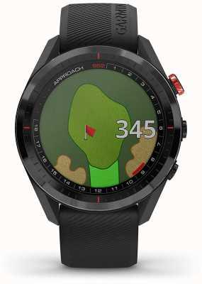 Garmin Ansatz s62   Golf GPS   cermamic Lünette   schwarzes Silikon 010-02200-00
