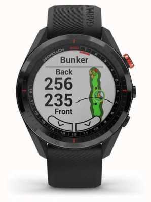 Garmin Ansatz s62 | Golf GPS | cermamic Lünette | schwarzes Silikon 010-02200-00