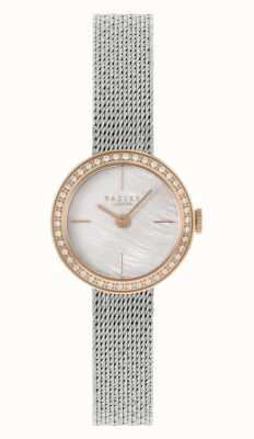 Radley Damen Silber Stahl Mesh Armband | Perlmutt Zifferblatt RY4567