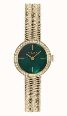 Radley | Frauen | vergoldetes Netzarmband | grünes Perlmutt Zifferblatt | RY4568