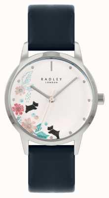 Radley Blaues Lederarmband für Damen | weißes Blumenzifferblatt RY21229A
