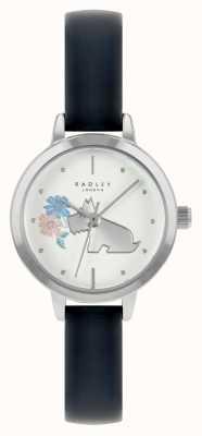 Radley Blaues Lederarmband für Damen | weißes Zifferblatt RY21237A