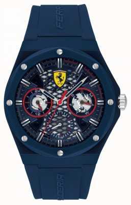 Scuderia Ferrari | streben | blaues Silikonband | blaues Zifferblatt | 0830788