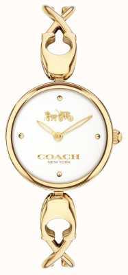 Coach Caroll | weißes Zifferblatt | vergoldeter Stahl mit PVD-Beschichtung 14503749