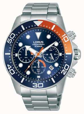 Lorus Herren | Chronograph | blaues Zifferblatt | Edelstahlarmband RT345JX9