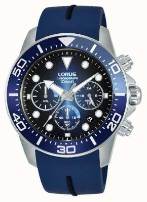 Lorus Herren | Chronograph | blaues Zifferblatt | blaues Silikonband RT349JX9