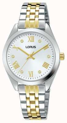 Lorus Frauen | silbernes Zifferblatt | zweifarbiges Edelstahlarmband RG253SX9