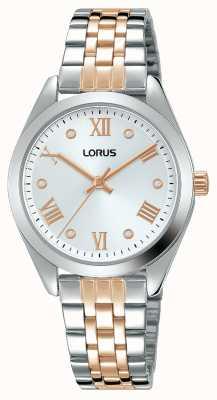 Lorus Frauen | silbernes Zifferblatt | zweifarbiges Edelstahlarmband RG255SX9