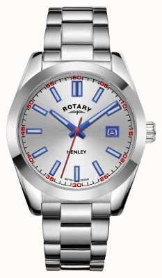 Rotary Herren | henley | silbernes Zifferblatt | Edelstahlarmband GB05180/59