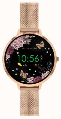 Reflex Active Serie 3 Smartwatch | Roségold-Edelstahlgitterband RA03-4038