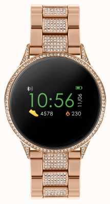 Reflex Active Serie 4 Smartwatch | Farb-Touchscreen | Stein Set Roségold Edelstahl Armband RA04-4014