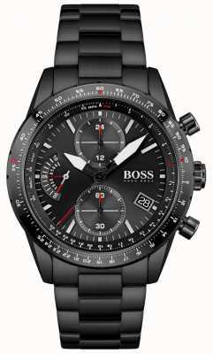 BOSS | Männer | Pilotausgabe | schwarzes Armband | schwarzes Chronographenzifferblatt | 1513854