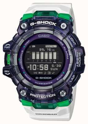 Casio G-Schock | Sport Vital Serie | weißes Silikonband | schwarzes Zifferblatt | Bluetooth GBD-100SM-1A7ER