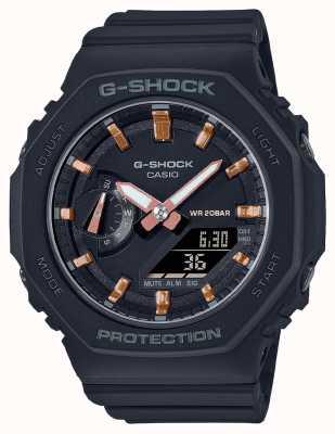 Casio Mittelgroßer G-Schock | schwarzes Harzband | schwarzes Zifferblatt GMA-S2100-1AER