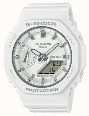 Casio Mittelgroßer G-Schock | weißes Harzband | weißes Zifferblatt GMA-S2100-7AER