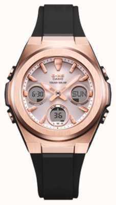 Casio G-Schock | msg -rose-gold ip | schwarzes Harzband | MSG-S600G-1AER