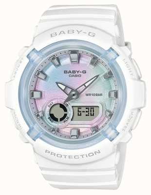 Casio Baby-g | weißes Harzband | mehrfarbiges Zifferblatt BGA-280-7AER
