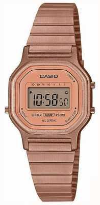 Casio Vintage | rosévergoldetes Stahlarmband | Digitaler Bildschirm LA-11WR-5AEF
