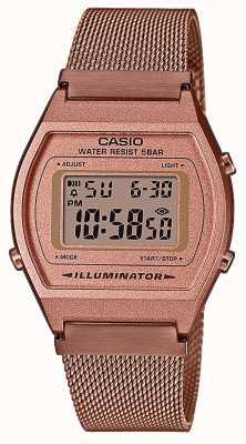 Casio Vintage | digital | roségold pvd mesh armband B640WMR-5AEF
