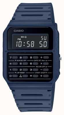 Casio Retro Rechner Uhr | blaues Harzband | schwarzes Zifferblatt CA-53WF-2BEF
