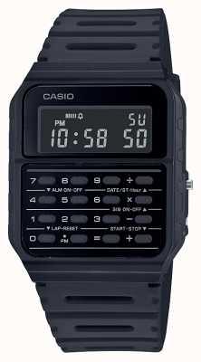Casio Retro Rechner Uhr | schwarzes Harzband | schwarzes Zifferblatt CA-53WF-1BEF