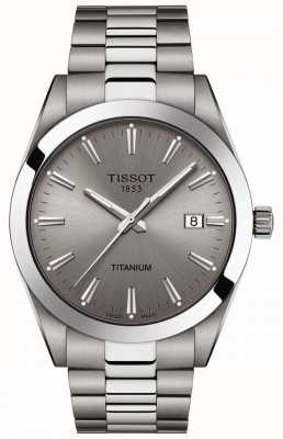 Tissot Herren Titan | Silber / Grau Titan Armband | graues Zifferblatt T1274104408100