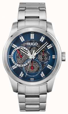 HUGO #skeleton | Herren Edelstahl Armband | blaues Zifferblatt 1530191