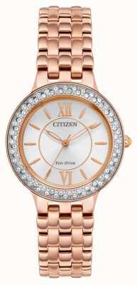 Citizen Roségold-Armband für Frauen mit Öko-Antrieb FE2088-54A