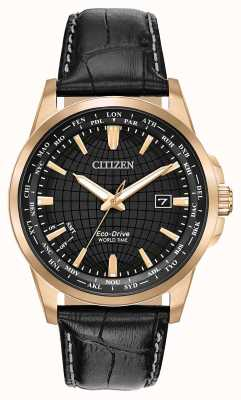 Citizen Herren Eco-Drive World Timer wr50 BX1003-08E