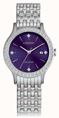 Citizen Kristallgehäuse für Frauen mit Öko-Antrieb FE1200-51L