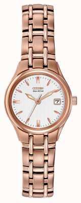 Citizen Roségold-Armband für Frauen mit Öko-Antrieb EW1263-52A