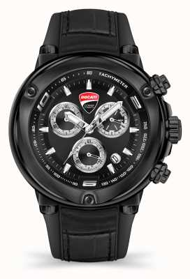 Ducati Dt001   Chronograph   schwarzes Zifferblatt   schwarzes Silikonband DU0064-CCH.A02