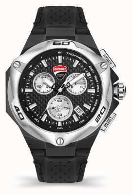 Ducati Dt002   Chronograph   schwarzes Zifferblatt   schwarzes Lederband DU0065-CCH.A01