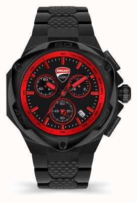 Ducati Dt002   Chronograph   schwarzes Zifferblatt   schwarzes pvd stahlarmband DU0065-ECHB.B01