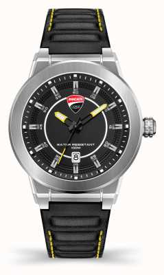 Ducati Dt004   schwarzes Zifferblatt   schwarzes Lederband DU0068-3HC.A03