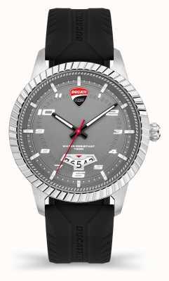 Ducati Dt005   graues Zifferblatt   schwarzes Silikonband DU0069-3HS.C01
