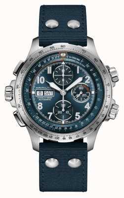 Hamilton Khaki Luftfahrt x-wind | automatisch | Chronograph | blaues Zifferblatt H77906940
