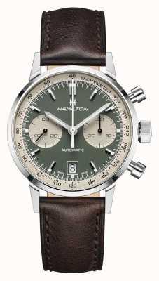 Hamilton Intramatik | automatisch | Chronograph | grünes Zifferblatt H38416560